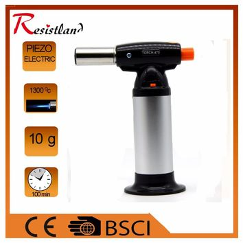Hot selling Flame gun torch Butane Lighter burning torch electricity ignite outdoor gas torch Camping BBQ Soldering welding