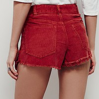 Free People Logan Cord Cutoffs