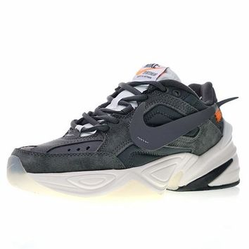 "Off white x Nike Air Monarch the M2K Tekno ""OW Dark Grey"" Retro Sneaker AO3108-011"