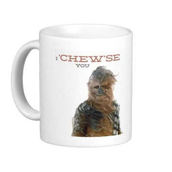 Star Wars Valentine Poem - If I was the force, then I'd be with you - Coffee Mug
