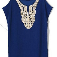 Women Casual New Summer Dress 2014 Lace Dresses Vestidos O-Neck Sexy Mini Black&ampBlue Plus Size Woman Clothing 5XL 4XL XXXL = 1958306052