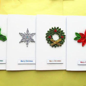 Christmas card pack, Christmas cards, Christmas card set, Xmas cards, Merry Christmas, quilled cards, xmas card pack, holiday card set