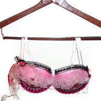 34C White Blast of Love Lace Hearts Bow Valentines Day Decorated Bra