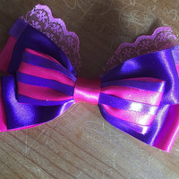 Disney Inspired Cheshire Cat (Alice In Wonderland) Hair Bow
