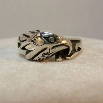 Sterling Silver American Eagle Ring -73