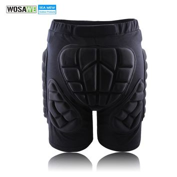 WOSAWE Ski Skating Sports Overland Racing Armor Shorts Legs Protective Hockey Knight Ride Equipment Gear Hip Pad Shorts