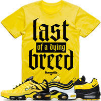 DYING BREED Yellow Sneaker Tees Shirt - Nike Air Max Frequency Pack Bumble Bee