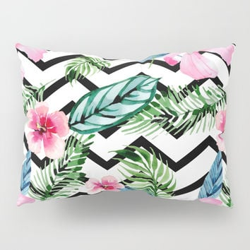 Watercolor Floral Pattern Pillow Sham by Smyrna