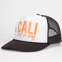 Rip Curl Cali State Of Mind Womens Trucker Hat White One Size For Women 25567915001