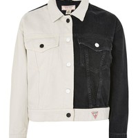 Colour Block Denim Jacket by GUESS Originals