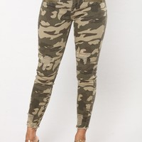 Major Camo Ankle Jeans - Camo