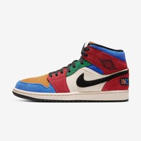 "Blue The Great x Air Jordan 1 Mid SE ""Fearless"" Sneakers - Best Deal Online"