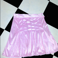 SWEET LORD O'MIGHTY! VELVET TENNIS SKIRT IN BABYPINK