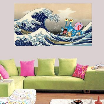 The Great Wave At Kanagawa 1930s - Katsushika Hokusai Print Ukiyo Poster Japanese Art Prints Japanese Wall Art Birthday Gift Ide