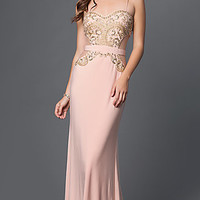 Prom Dress with Sweetheart Neckline and Beading