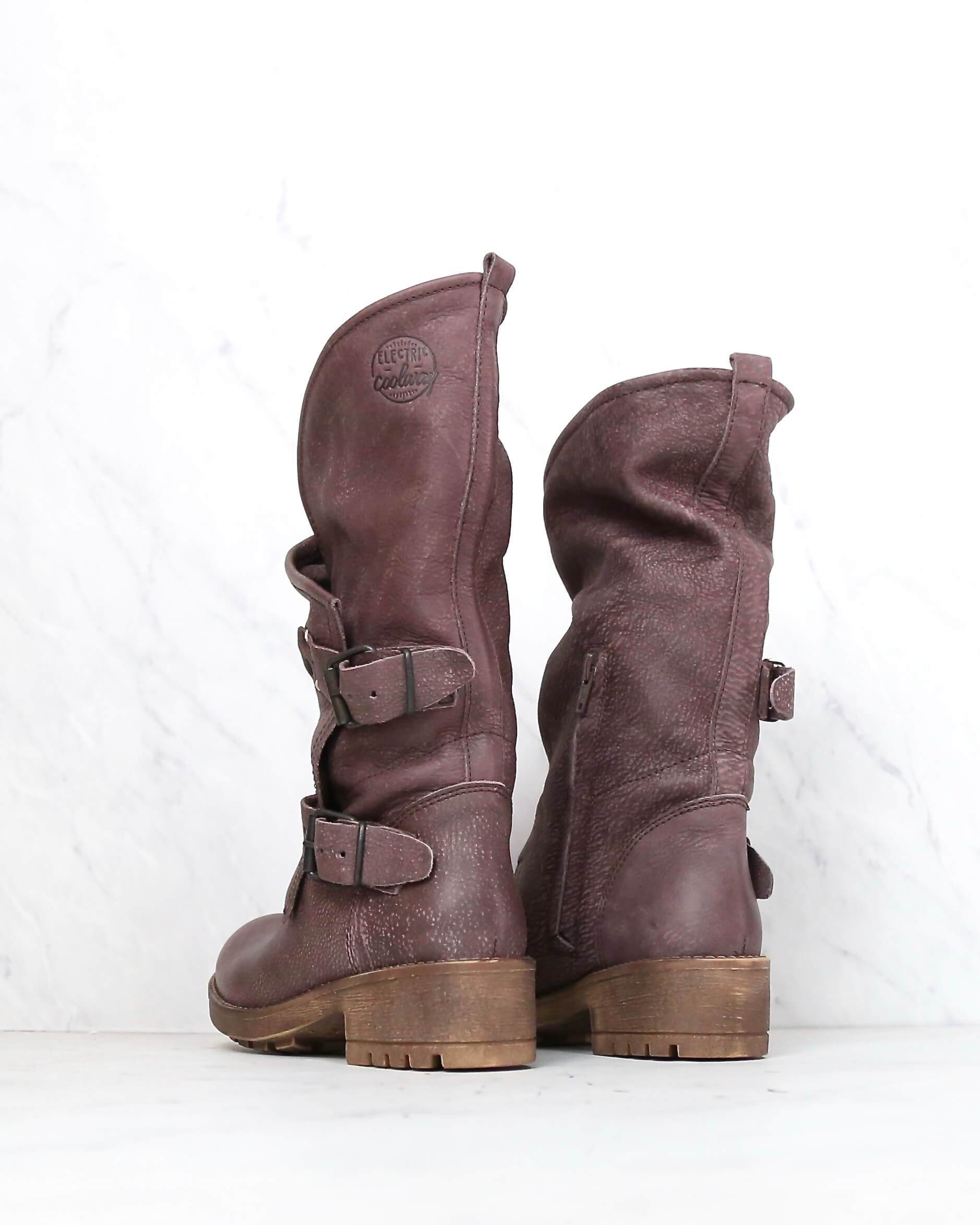0151fbb98b8 coolway - Alida leather motorcycle boots - dark brown