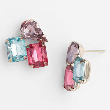Rachel Multi Stone Stud Earrings | Nordstrom