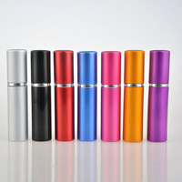 Hot Sale 5ML Mini Portable For Traveler Aluminum Refillable Perfume Bottle With Spray&Empty Cosmetic Containers With Atomizer