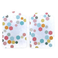 Gift Tags White Colorful Hexagons Set of 28