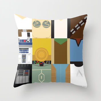 Star Wars Throw Pillow by Adrian Mentus