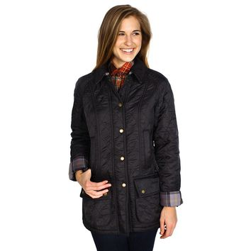 Beadnell Polarquilt Jacket in Black by Barbour
