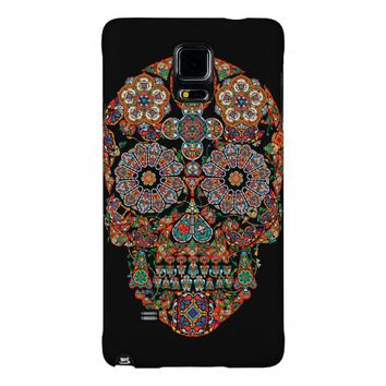 Day of the Dead Flower Sugar Skull Galaxy Note 4 Case
