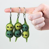 Pea Pod Key Ring