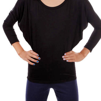 Black Piko Top- Kids  *MADE IN USA*