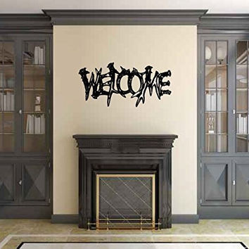 Welcome Elk Deer Antlers Vinyl Wall Words Decal Sticker Graphic