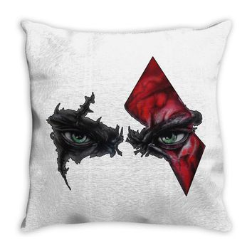 blood face Throw Pillow