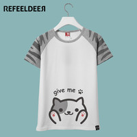 Japanese Anime Print Cat Totoro T Shirt Women Summer T-shirt Female Kawaii Emoji Funny Tshirt Women Graphic Tops Tee Shirt Femme