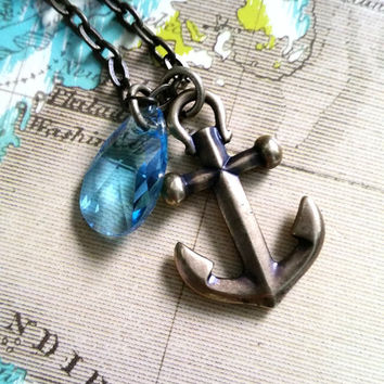 Anchor Necklace, Ocean Jewelry, Nautical Jewelry