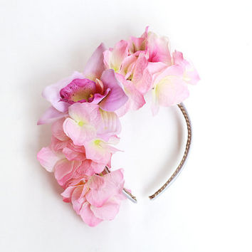 flower crown headband / statement headpiece, hair crown, wedding bridal headpiece, statement, lana del rey, fascinator, spring races.