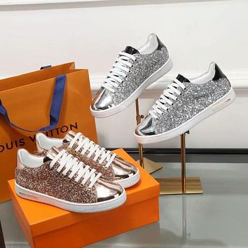 Louis Vuitton Lv Glittered Frontrow Sneaker #2017