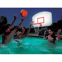 The Lighted Poolside Basketball Hoop