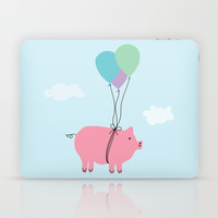 When Pigs Can Fly Laptop & iPad Skin by Doucette Designs