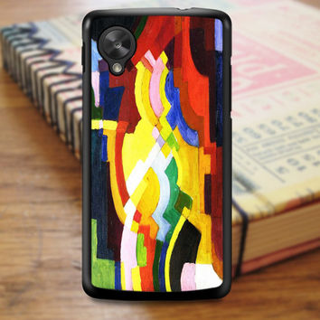 August Macke Abstract Cubist Painting Art Nexus 5 Case