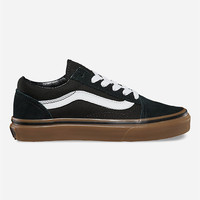 Vans Old Skool Gumsole Boys Shoes Black/Medium Gum  In Sizes