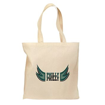 Philly Philly Funny Beer Drinking Grocery Tote Bag - Natural by TooLoud