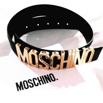 MOSCHINO Classic Trendy Fashion Trend Belt Belt F/A