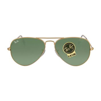Cheap Ray Ban Aviator Arista Green 55 mm Sunglasses 3025-W3234-55 outlet