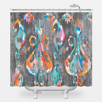 Spiral of Silence Shower Curtain