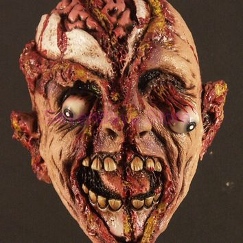 Halloween Adult Mask Zombie Mask Latex Bloody Scary Extremely Disgusting Full Face Mask Costume Party Cosplay Prop