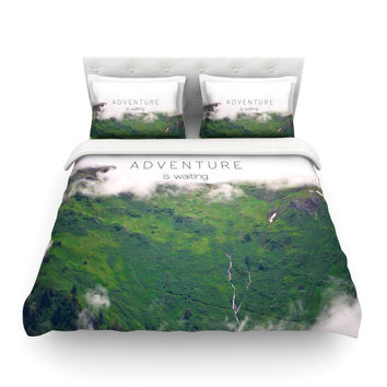 "Ann Barnes ""Adventure is Waiting"" Mountain Featherweight Duvet Cover"