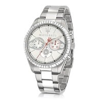 Maserati Designer Men's Watches Competizione Chronograph Multi Silver Dial Stainless Steel Men's Watch