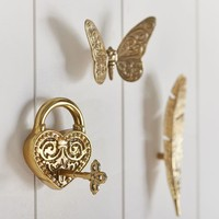 Gold Vintage Novelty Hooks