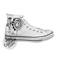 Blink 182 xx White shoes New Hot Shoes