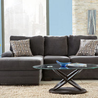 Dylan Charcoal 2 Pc. Sectional (Reverse) - Sectionals - Living Room - mobile