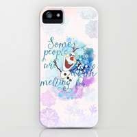 Some People Are Worth Melting For. iPhone & iPod Case by Sara Eshak