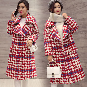5th Avenue Plaid Maternity Trench Coat outerwear